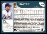 2001 Topps #314  Shane Halter  Back Thumbnail