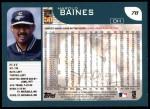2001 Topps #78   Harold Baines Back Thumbnail