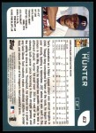 2001 Topps #63   Torii Hunter Back Thumbnail