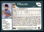 2001 Topps #284   Keith Foulke Back Thumbnail