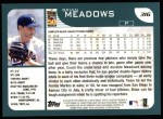 2001 Topps #316  Brian Meadows  Back Thumbnail