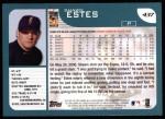 2001 Topps #437  Shawn Estes  Back Thumbnail