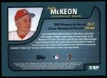 2001 Topps #332  Jack McKeon  Back Thumbnail