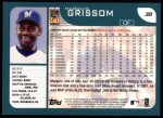 2001 Topps #38   Marquis Grissom Back Thumbnail