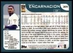 2001 Topps #305  Juan Encarnacion  Back Thumbnail