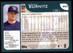 2001 Topps #443   Jeromy Burnitz Back Thumbnail