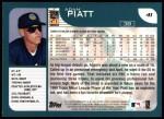 2001 Topps #41   Adam Piatt Back Thumbnail