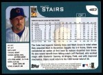 2001 Topps #483  Matt Stairs  Back Thumbnail