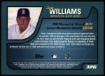 2001 Topps #326  Jimy Williams  Back Thumbnail