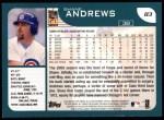 2001 Topps #83  Shane Andrews  Back Thumbnail
