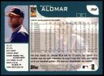 2001 Topps #312   Sandy Alomar Jr. Back Thumbnail