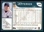2001 Topps #295  Gregg Jefferies  Back Thumbnail