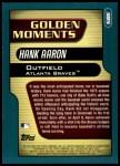 2001 Topps #385  Hank Aaron  Back Thumbnail