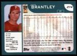 2001 Topps #274   Jeff Brantley Back Thumbnail