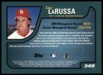 2001 Topps #349   Tony La Russa Back Thumbnail
