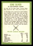 1963 Fleer #62  Gene Oliver  Back Thumbnail