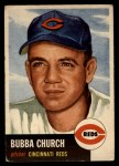 1953 Topps #47   Bubba Church Front Thumbnail