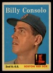 1958 Topps #148  Billy Consolo  Front Thumbnail