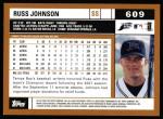 2002 Topps #609  Russ Johnson  Back Thumbnail
