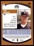 2002 Topps #684   Dan Phillips  Back Thumbnail