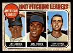 1968 Topps #10 COR 1967 AL Pitching Leaders  -  Dean Chance / Jim Lonborg / Earl Wilson Front Thumbnail