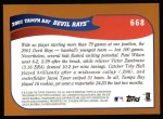 2002 Topps #668  Tampa Bay Devil Rays  Back Thumbnail