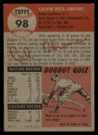 1953 Topps #98  Cal Abrams  Back Thumbnail