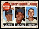 1968 Topps #10 ERR 1967 AL Pitching Leaders  -  Dean Chance / Jim Lonborg / Earl Wilson Front Thumbnail