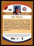 2002 Topps #280  Don Baylor  Back Thumbnail