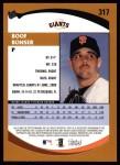 2002 Topps #317   Boof Bonser Back Thumbnail