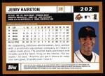 2002 Topps #202  Jerry Hairston  Back Thumbnail