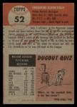 1953 Topps #52  Ted Gray  Back Thumbnail