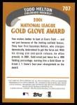 2002 Topps #707   -  Todd Helton Golden Glove Back Thumbnail