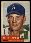 1953 Topps #129  Keith Thomas  Front Thumbnail