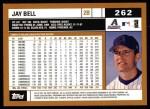 2002 Topps #262   Jay Bell Back Thumbnail