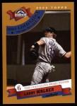 2002 Topps #713   -  Larry Walker Golden Glove Front Thumbnail