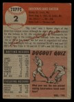 1953 Topps #2   Luke Easter Back Thumbnail