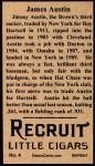 1912 T207 Reprints #4   James Austin  Back Thumbnail