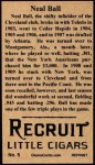 1912 T207 Reprints #5   Neal Bal  Back Thumbnail