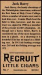 1912 T207 Reprints #7   Jack Barry Back Thumbnail