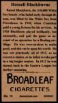 1912 T207 Reprints #14   Lena Blackburne Back Thumbnail
