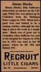 1912 T207 Reprints #16   Jimmy Block Back Thumbnail