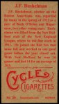 1912 T207 Reprints #20    J. F Bushelman Back Thumbnail