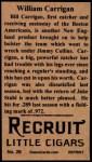 1912 T207 Reprints #26    Bill Carrigan Back Thumbnail