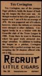 1912 T207 Reprints #34   Tex Covington  Back Thumbnail