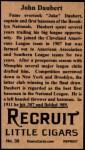 1912 T207 Reprints #39    Jake Daubert Back Thumbnail