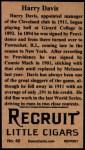 1912 T207 Reprints #40   Harry Davis Back Thumbnail