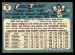 1965 Topps #58   Fred Talbot Back Thumbnail