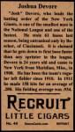 1912 T207 Reprints #44   Joshua Devore Back Thumbnail