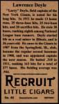 1912 T207 Reprints #49    Larry Doyle Back Thumbnail
